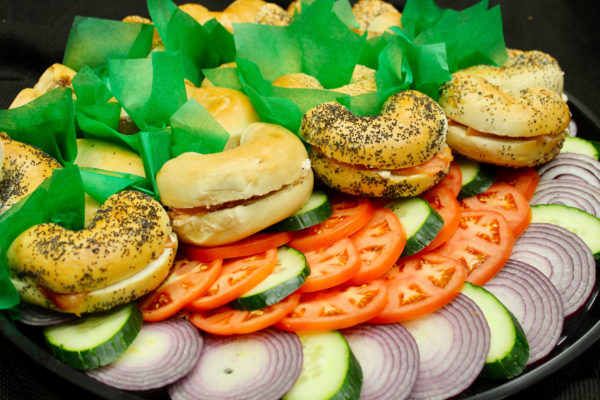 Bagel tray for catering