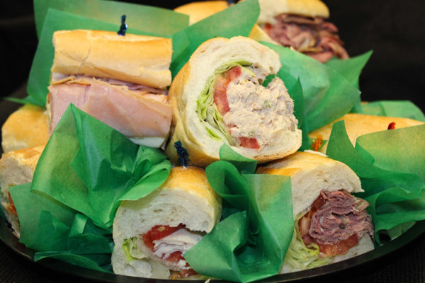 Hoagie tray: catering from Mrs Marty's Deli in Broomall, PA