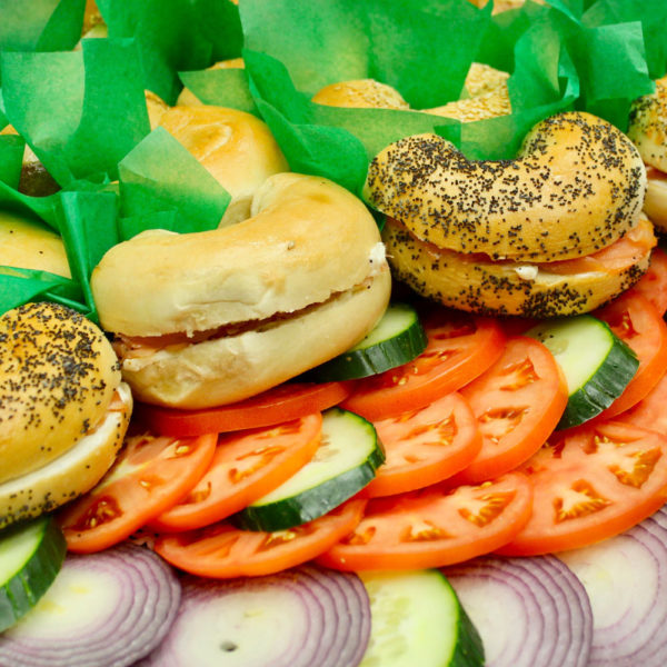 bagel tray: catering from Mrs. Marty's Deli in Broomall, PA