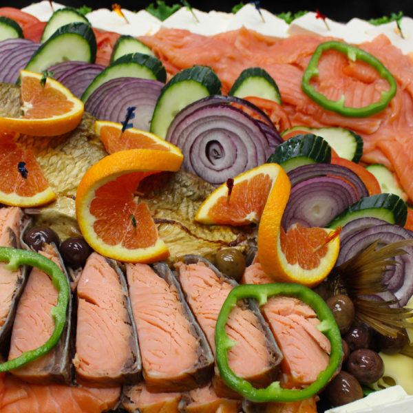fish tray: catering from Mrs Marty's Deli in Broomall, PA