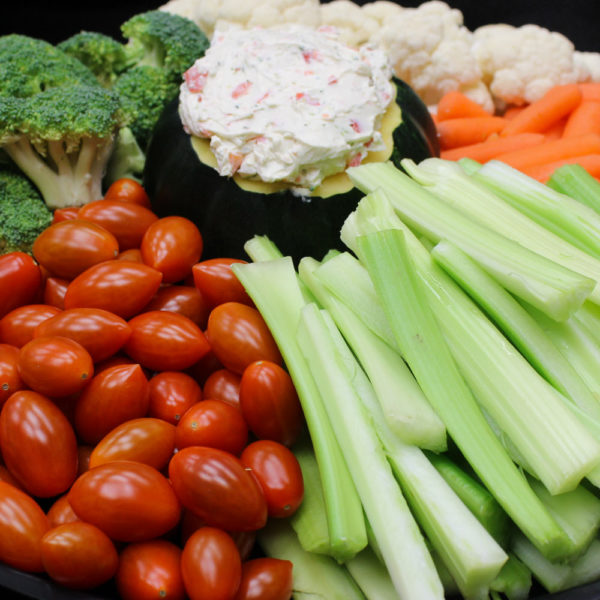Fresh vegetable tray: catering from Mrs. Marty's Deli in Broomall, PA